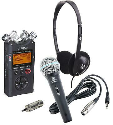 Tascam DR-40 Linear PCM/MP3 Recorder Set Mikrofon Kopfhörer SD-Karte USB-Kabel