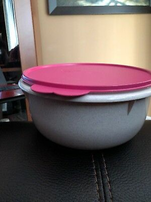 Tupperware Classic Vintage Mixing Bowl/Large Pink Speckled #271 & tabbed Seal