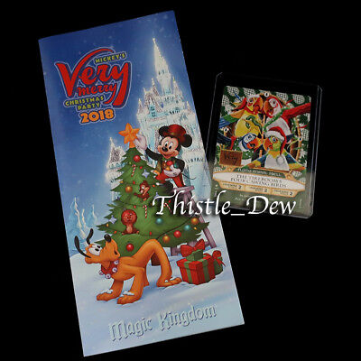 SORCERERS Christmas 2018 TIKI ROOM CARD Magic Kingdom MICKEY'S Very Merry Party