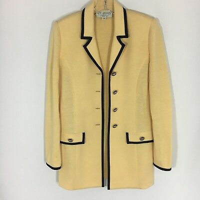 St. John Collection By Marie Gray Santana Knit Blazer Jacket sz 4 Small