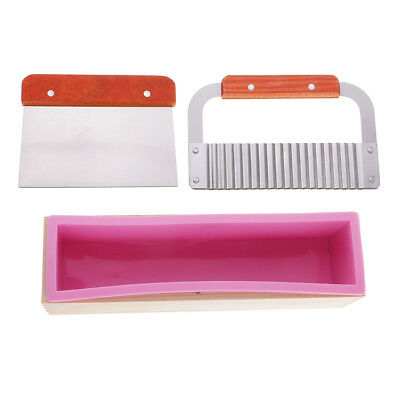 Handmade Soap Loaf Cutter Mold Soap Cutter Set Silicone Mold with Wooden Box