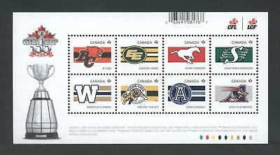 Canada Souvenir Sheet 2558 Cfl Teams - Canadian Football League