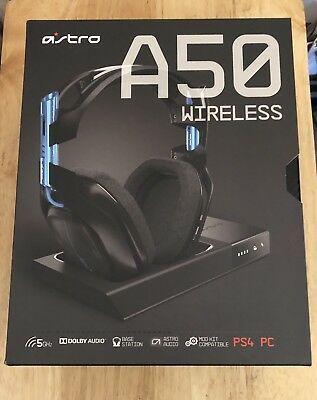 NEW Astro Gaming A50 Wireless Gaming Headset Base Station PS4 Playstation 4/ PC
