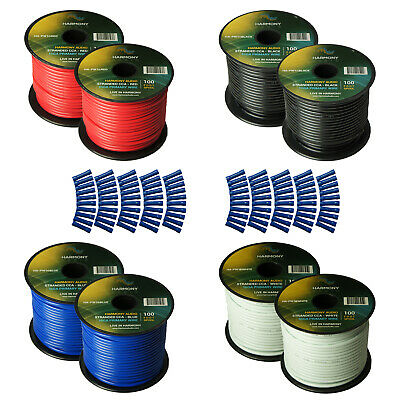 Harmony Car Primary 16 Gauge Power or Ground Wire 800 Feet 8 Rolls Multi Color