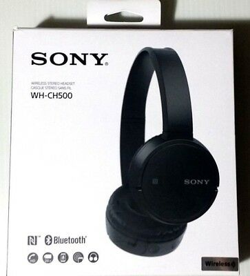 Sony WH-CH500 Wireless Headphones Black WHCH500 Bluetooth New Open Box