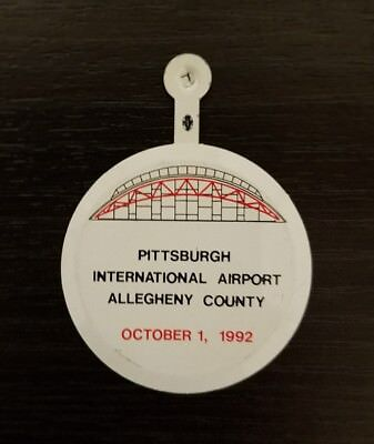 Vintage 1992 Grand Re-opening Pittsburgh International Airport PIT Pin Button