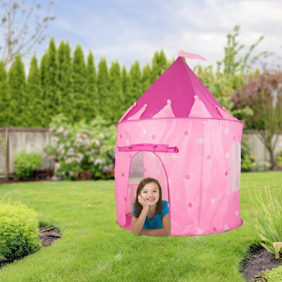 Girls Princess Pink Play Tent Castle Pop Up Playhouse Toy 100 Plastic Balls NEW