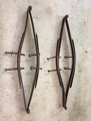 Vintage pair of Horse drawn BUGGY SEAT SPRING buckboard carriage antique wagon