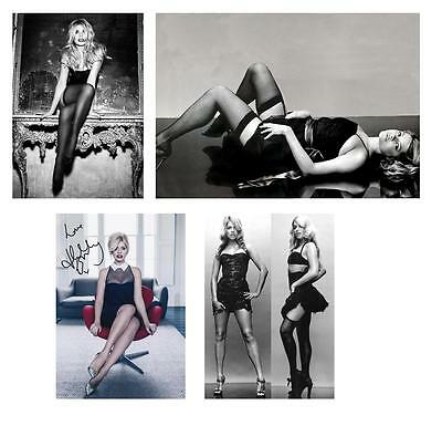 H #16 Holly Willoughby 3 stockings + 1 pre print signed 7x5 glossy photos