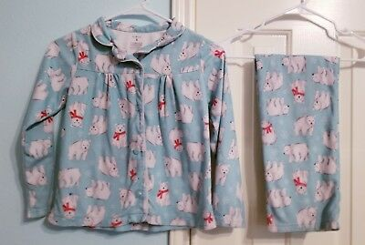 6dbc5b85f2 Carter s Girls  2-Piece Cotton polar bear pajamas PJs Size 8
