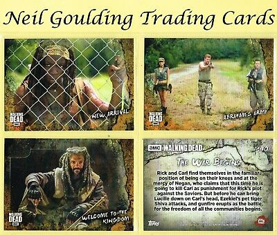 The Walking Dead - ROAD TO ALEXANDRIA ☆ RUST PARALLEL ☆ Trading Cards #1 to #90