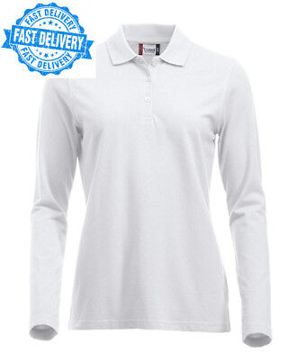 008aff69cc75 CLIQUE CLOTHING LADIES Classic Cotton Long Sleeve Polo Shirt. Modern ...