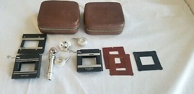 Vintage Rolleikin DBP Adapter Kit in 2 Leather Cases