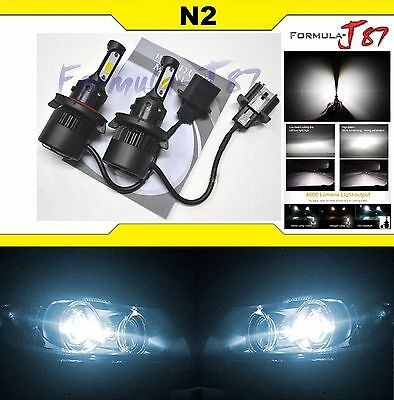 LED Kit N2 72W 9008 H13 6000K White Two Bulbs Head Light Fan Bright Upgrade EO
