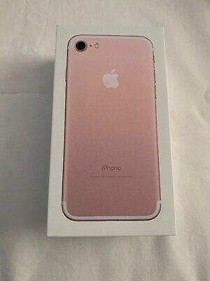 - Apple iPhone 7 32GB Rose Gold Empty Retail Box, No Accessories, LOOK! -
