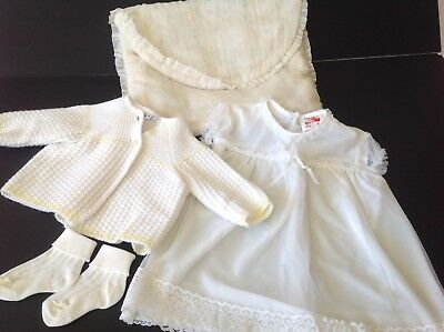 VINTAGE  BABY DRESS & OTHER BITS / BUNDLE - BASIL BRUSH CAPRICE Approx 9 MTHS