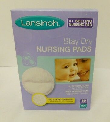 Lansinoh Disposable Stay Dry Nursing Pads 240 ct. (Case of 4 boxes, 60 each box)