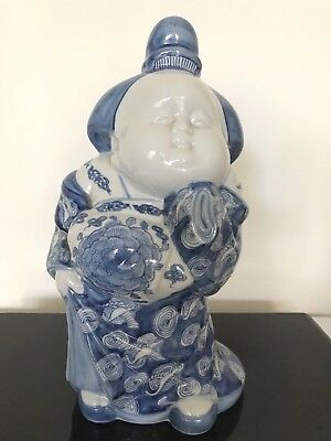 Japanese porcelain blue and white goddess