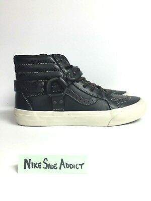 8316eb35a4 Vans TH SK8-Hi Engineer LX Leather Tortoise Shell VN00019XL3A Black Unisex  Vault