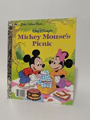 Vtg Little Golden Book Mickey Mouses Picnic 1950 Crafts Projects