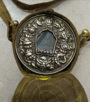 chinese antique Tibetan Silver Anlique Adult Blessing Box