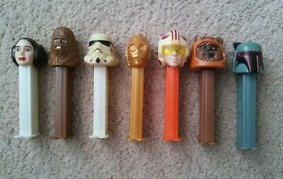 Star Wars Pez Dispenser Lot C3P0 Fette Chewbacca 7 total Rare FREE SHIPPING