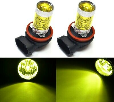 Led 50W H8 Jaune 3000K Deux Ampoules Antibrouillard Remplacer Prise Play Upgrade