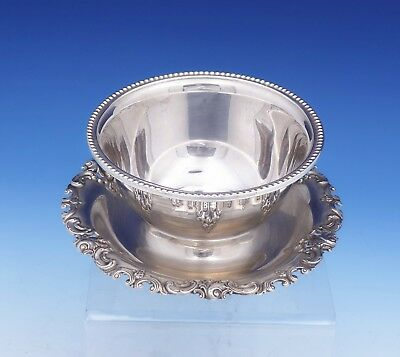 "Grande Baroque by Wallace Sterling Silver Gravy Boat #4995 6"" Diameter (#3102)"