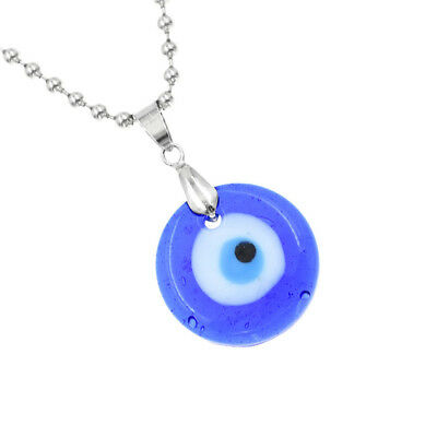 Turkish Evil Eye Necklace Glass Charms Pendent Blue Fashion Jewelry Gifts Unisex