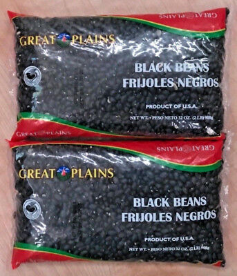 Great Plains Black Beans 2 Bags Total 4 LBS Frijoles Negros FREE Shipping