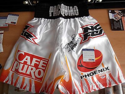 MANNY PACQUIAO Signed Replica (ERIC MORALES) Fight Night Worn Trunks/Shorts A