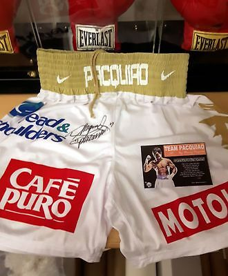 MANNY PACQUIAO Signed Replica (MARGARITO) Fight Night Worn Trunks