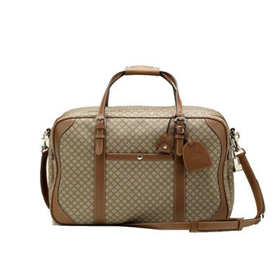 0e19a9e72501d5 GUCCI Diamante Carry-On Travel Adjustable Strap Luggage Beige/Brown 267905