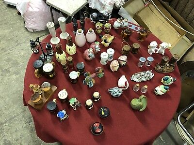 Huge Lot Of 25 Sets Vintage & New Salt And Pepper Shakers