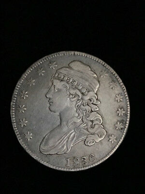 1836 Capped Bust Half Dollar with lettered edge VF .50c Key Date