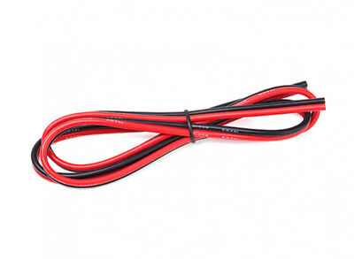Turnigy Premium 14AWG Silicone Wire 1m Length (Red/Black Bonded Pair) - Flexible