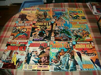 Lot Of 12 Old Western Comic Books, Jonah Hex