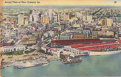 New Orleans, La ~ Great View Of The City From The Waterfront ~ 1954