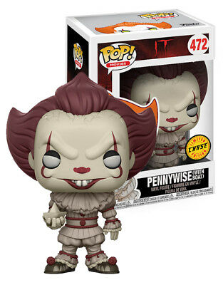 Funko Pop Pennywise Chase & Common IT w/ Boat #472 Blue Eyes 2 Pack New Figure