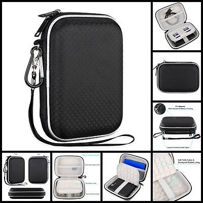 """Universal Shockproof Carrying Travel Case For 2.5"""" Portable External Hard Drive"""