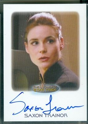 Women of Star Trek  50th Anniversary  Saxon Trainor as Lt  Larson   Auto Card
