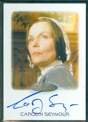 Women of Star Trek  50th Anniversary Carolyn Seymour as Mrs Templeton Auto Card
