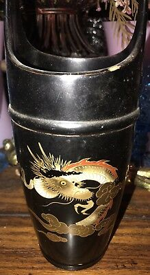 Vtg Chinese Dragon Basket