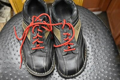 Dexter Men 8 1/2 SIZE  2W SST 6 Black Leather Right Hand Bowling Shoes FREE S/H