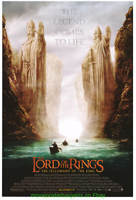 LORD OF THE RINGS MOVIE POSTER Double Sided 27x40 Repaired 2nd Style ADVANCE