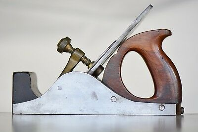 RARE STEEL SMOOTHING PLANE by E. J. BIRCH, LONDON  English Wood Filled Antique