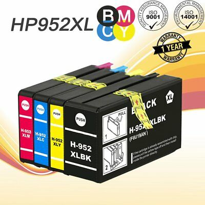 4 Pack 952XL Ink Cartridges For HP OfficeJet Pro 8710 7740 8210 8715 8716 8720
