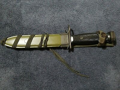 US Imperial M7 bayonet Vintage Fighting Knife w/ M8A1 Scabbard