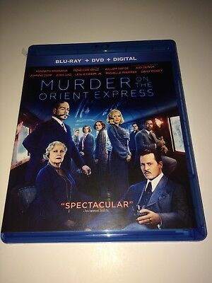 Murder on the Orient Express (Blu-ray and DVD, 2018) Johnny Depp - No Digital