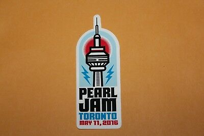 2016 PEARL JAM Sticker - 05/11/16 Toronto, ON Not Poster Lightning Bolt SOLD OUT
